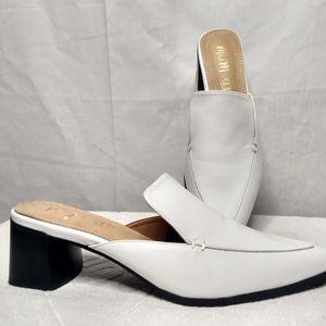 Mi.iM Mules White Slide Sz 10